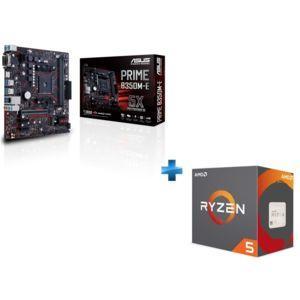 Carte mère Asus Prime B350-E + processeur AMD Ryzen 5 1500X