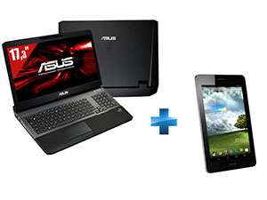 "PC Portable 17"" Asus Gamer G75VX i7 + Tablette Tactile 7'' Asus Fone Pad offerte"
