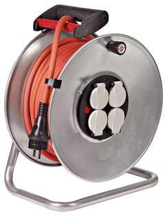 Enrouleur de câble Brennenstuhl - 4 prises, 40 m