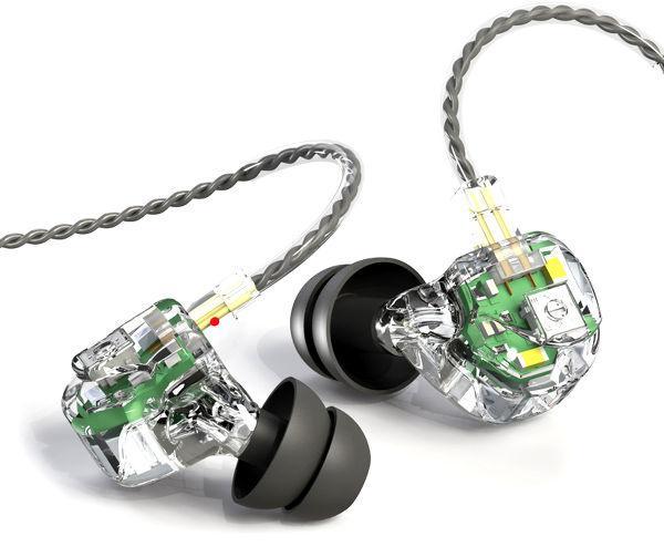 Ecouteurs intra-auriculaires Earsonics Velvet (3 transducteurs, signature sonore réglable)