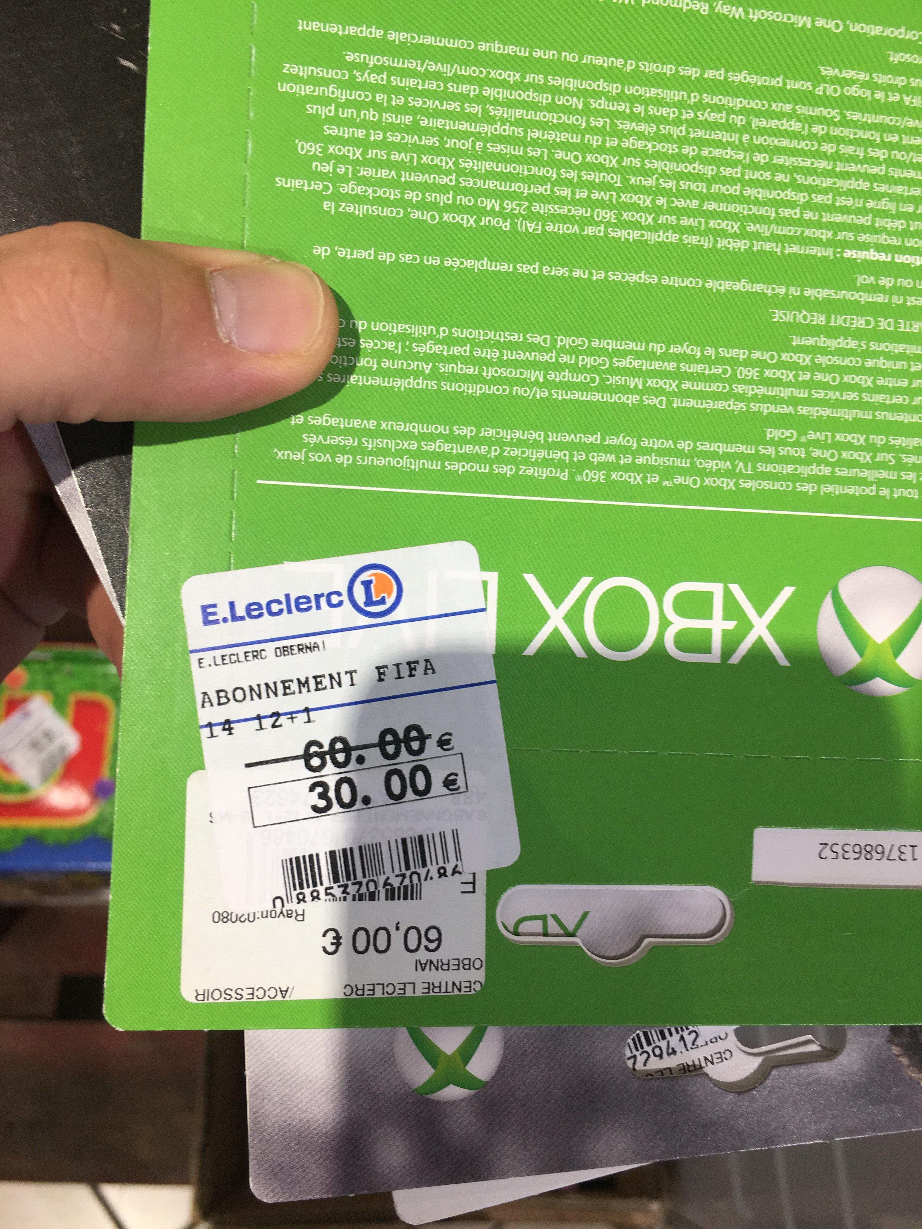 Abonnement Xbox Live Gold 12+1 mois