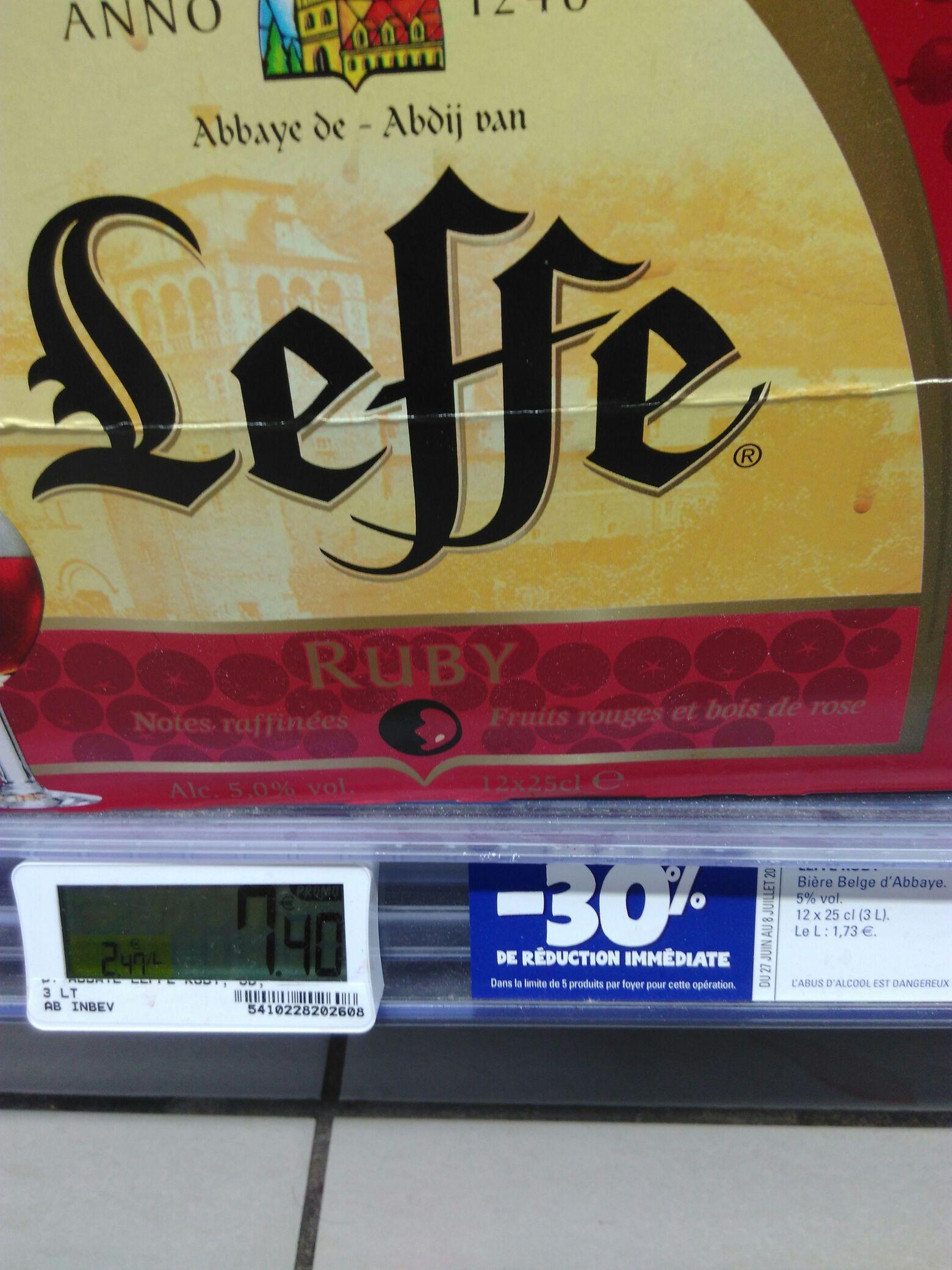 Pack de bières Leffe Ruby - 12 x 25cl
