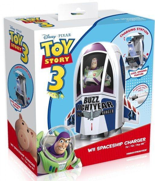 Station de Charge + batterie rechargeable Thrustmaster Toy Story - Fusée de Buzz pour Manette Wii