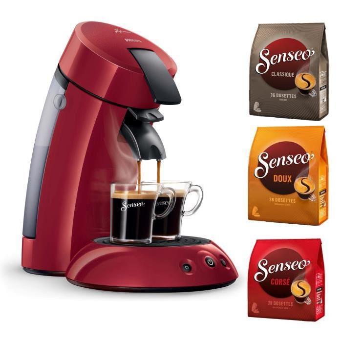 Machine à dosettes Philips Senseo HD7817/91 + 3 Packs de café Senseo