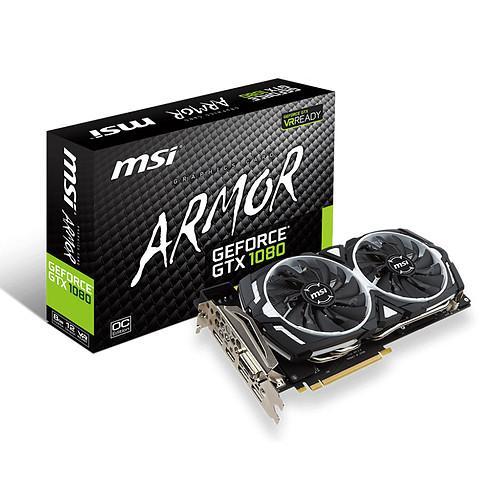 Carte graphique MSI GeForce GTX 1080 Armor 8G OC (via ODR de 50€)