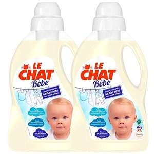 [Panier Plus] Lot de 2 Lessives Liquide Le Chat Bébé