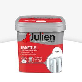 Peinture rénovation radiateur Julien - 2L, Blanc mat (avec ODR 50%)