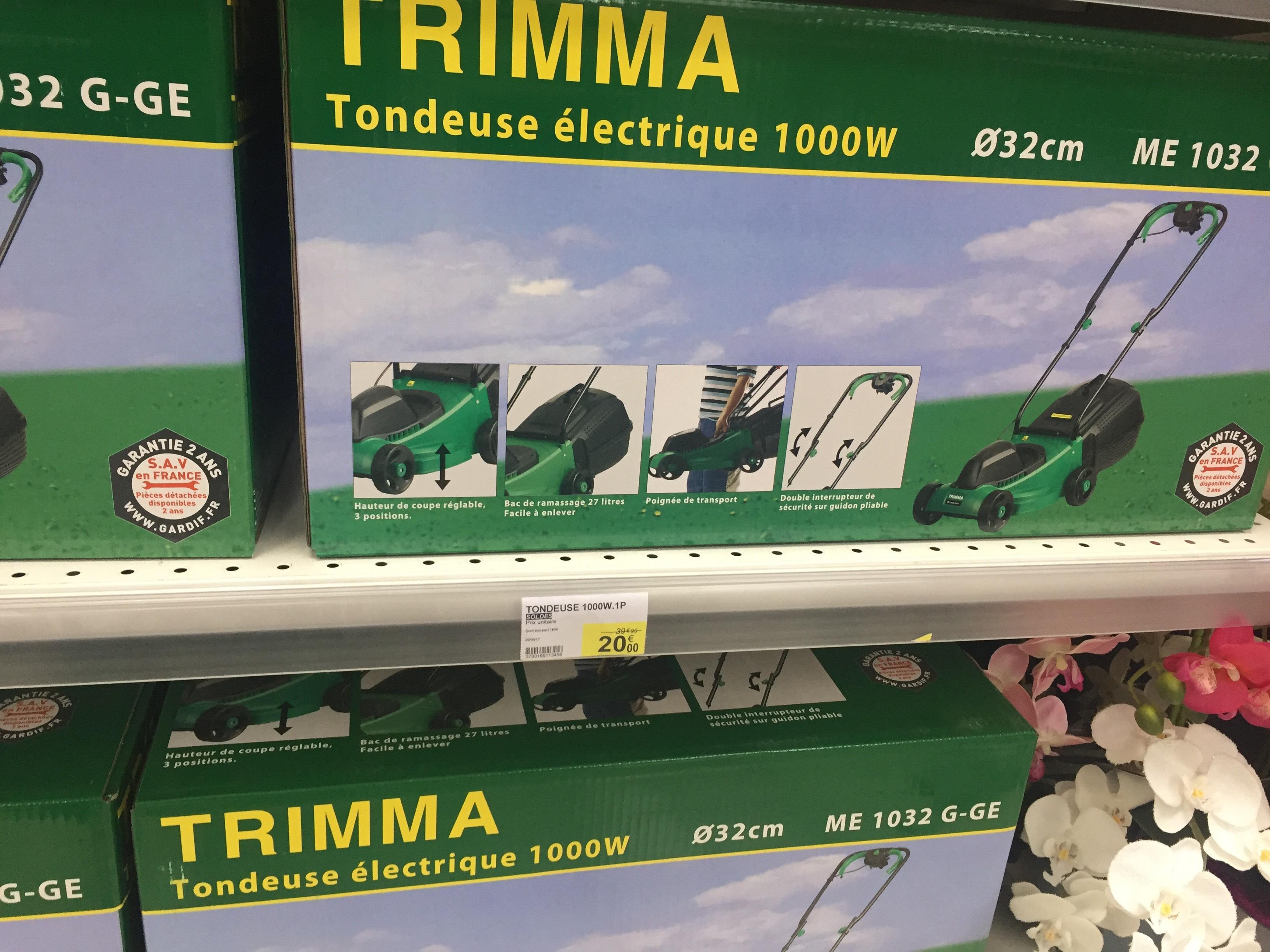 Tondeuse électrique TRIMMA - 1000W, 32cm de diamètre