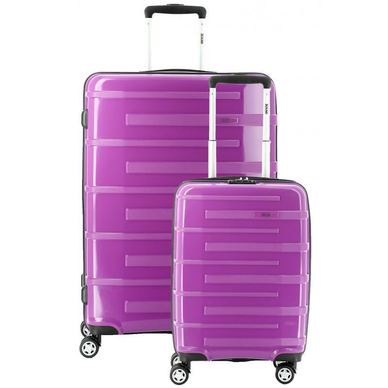 Lot de 2 valises Tekmi Joker - Mauve, Taille L + S