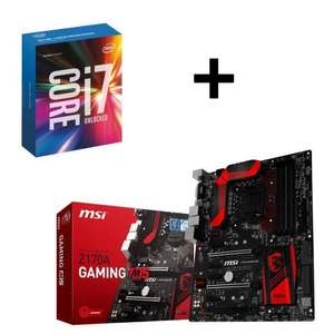 Processeur Intel I7-6700K + Carte mère MSI Z170-A Gaming 5