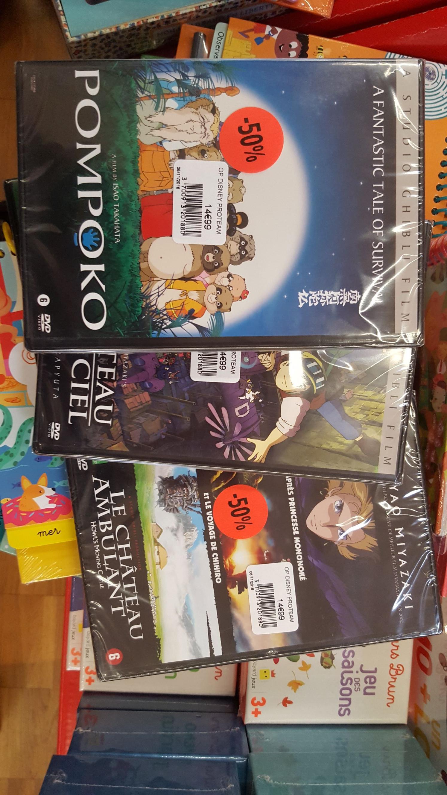 Sélection de DVD Studio Ghibli (Pompoko, Le Château ambulant...)