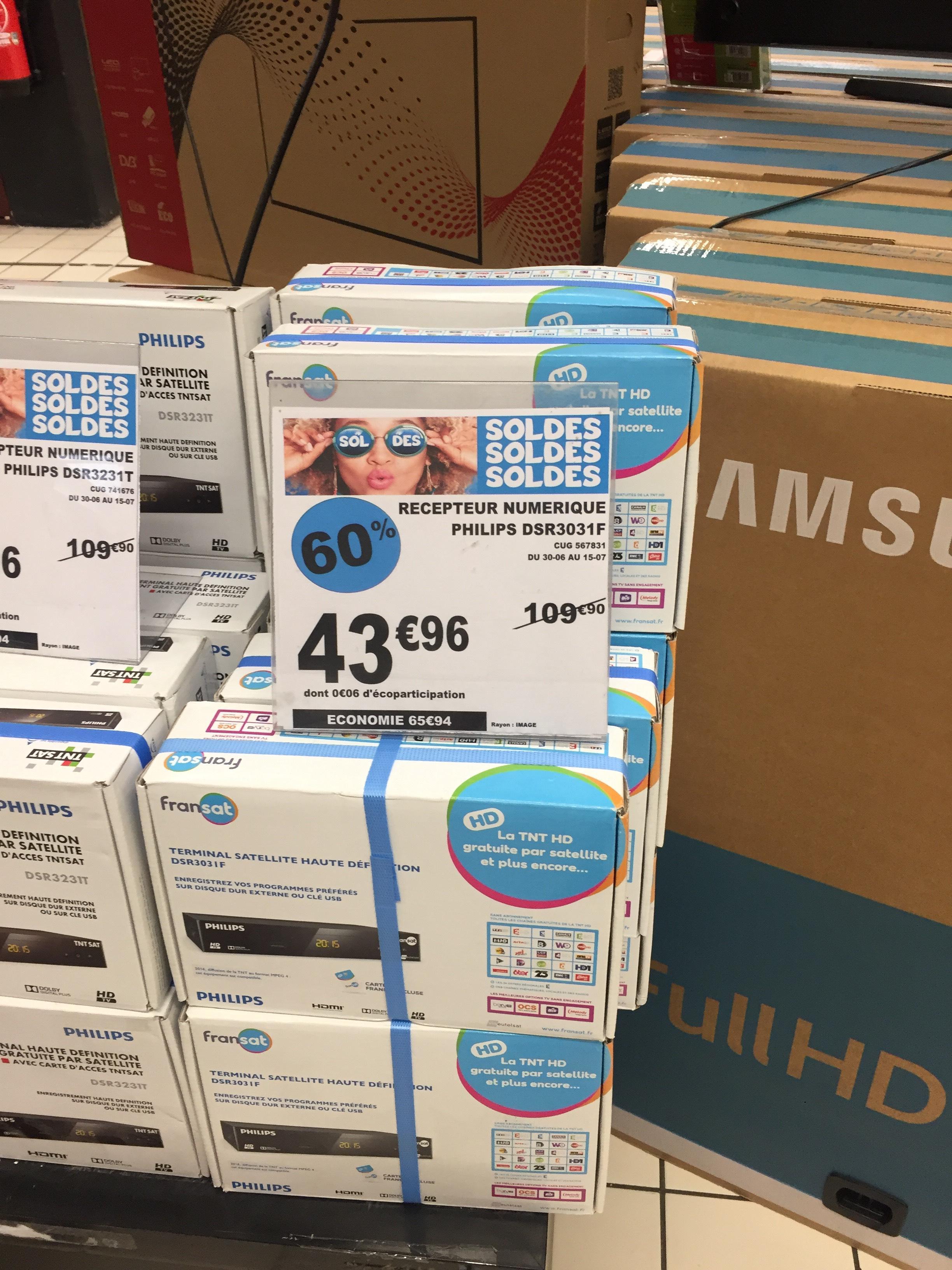 Récepteur numérique TNT Sat Philips DSR3031F + Carte abonnement 4ans