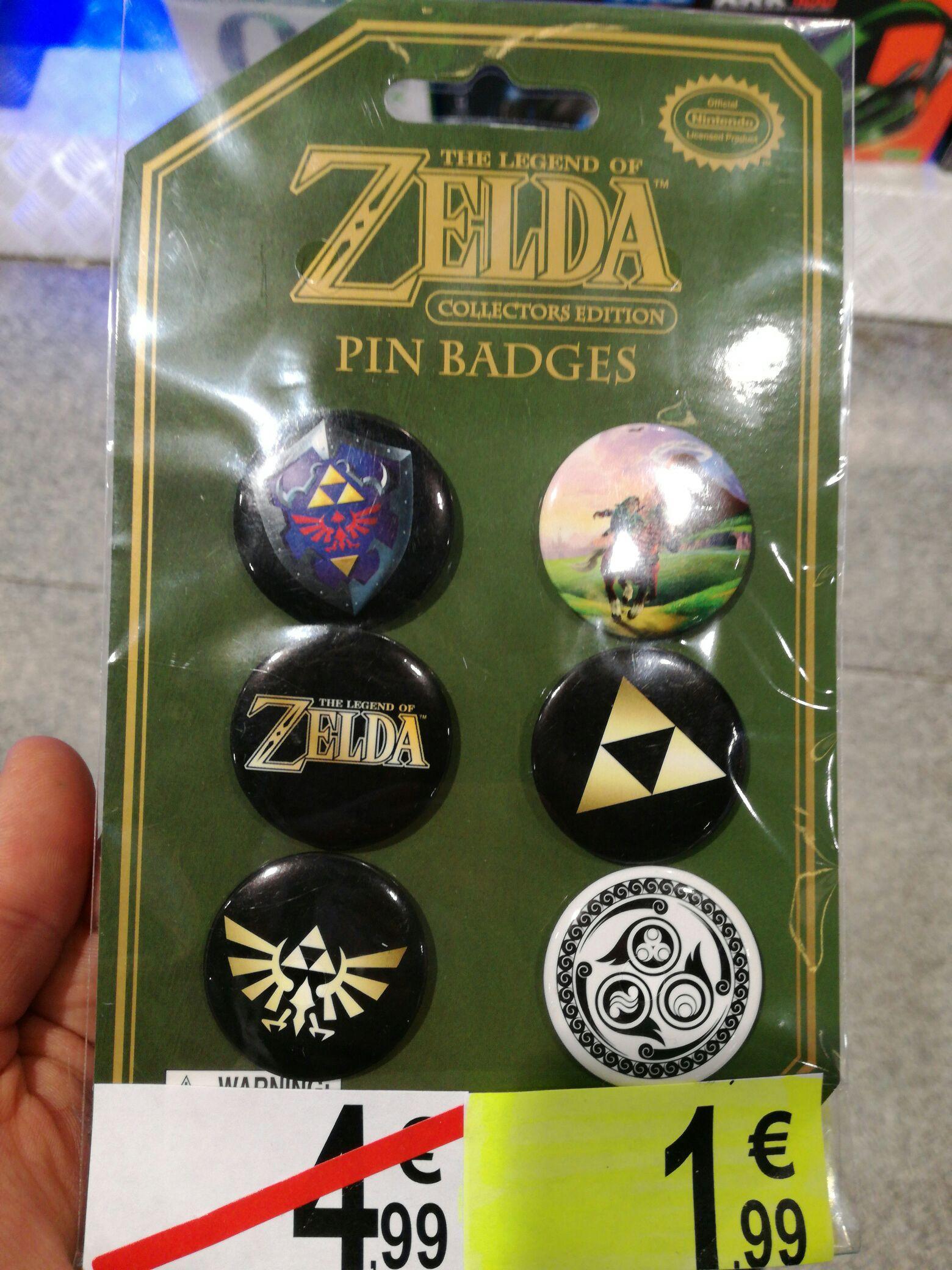 Pack de 6 badges Zelda Collector's