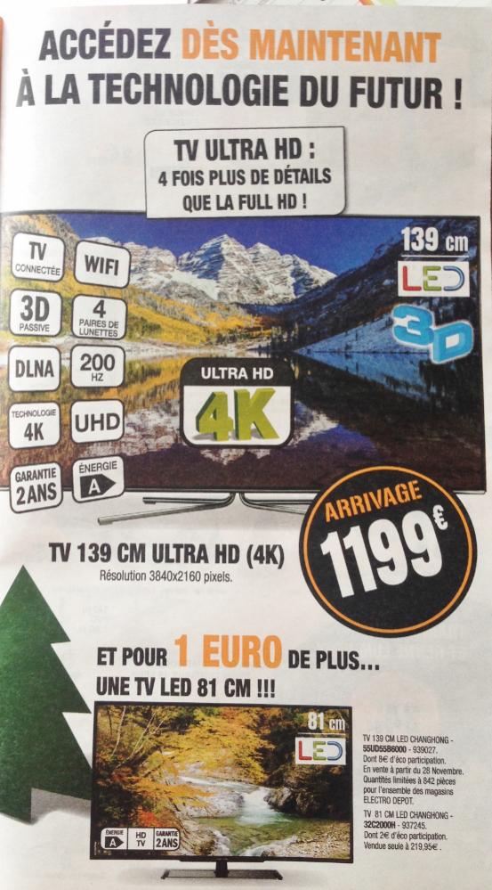 """TV 55"""" Ultra HD 4K Changhong UD55B6000 + TV 32"""" Changhong 32C200H"""