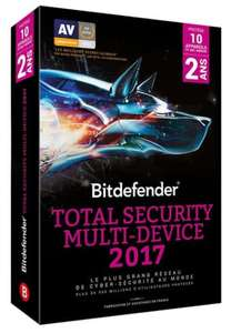Licence Bitdefender Total Security Multi-Device 2017 - 10 appareils, 2 ans