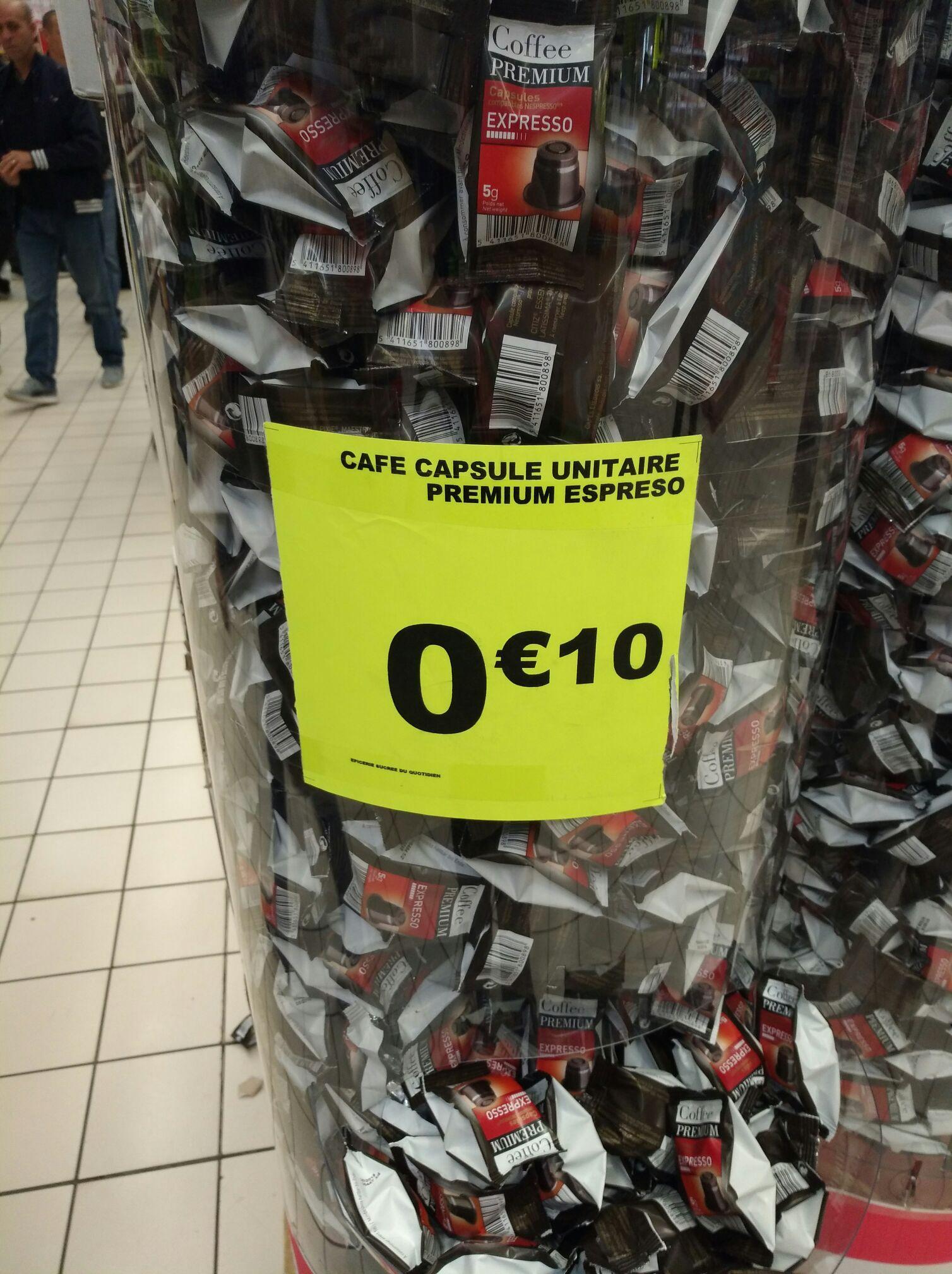 Capsule Coffee Premium compatible Nespresso, l'unité