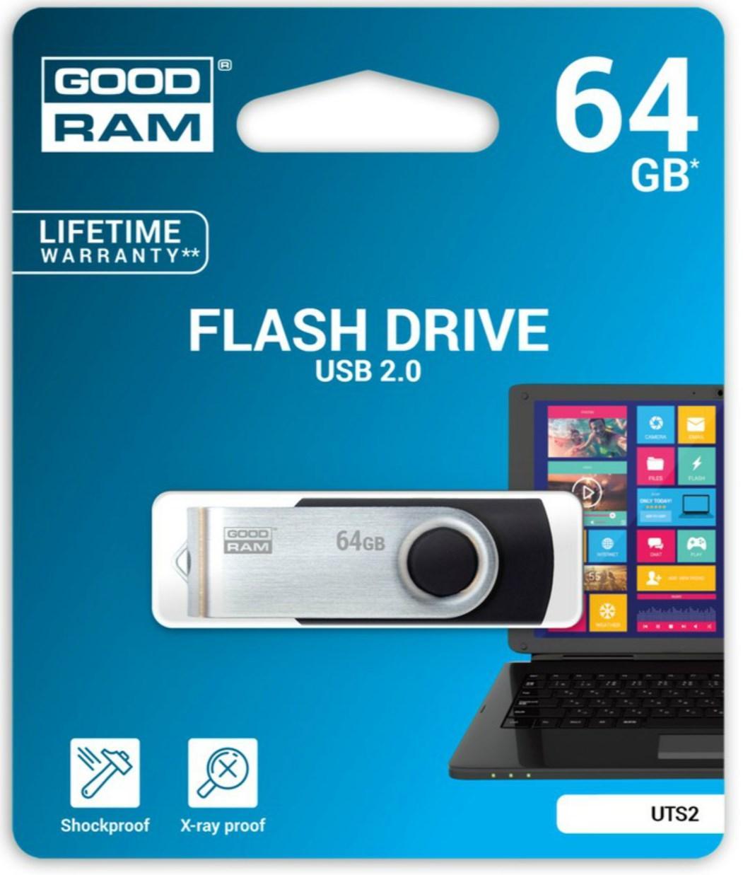 Clé USB 2.0 Goodram UTS2 - 64 Go