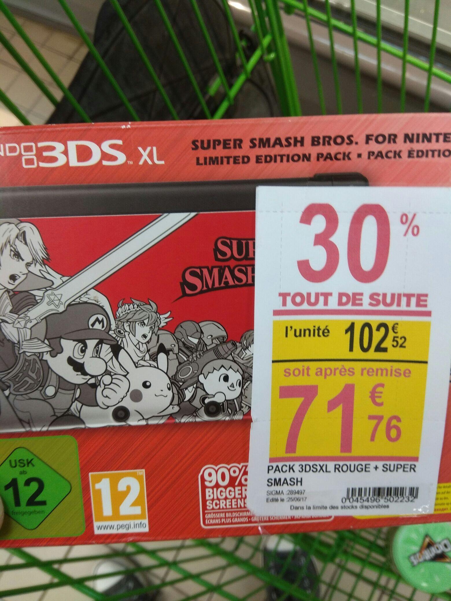 Pack Console Nintendo 3DS XL Edition Limitée + Super Smash Bros