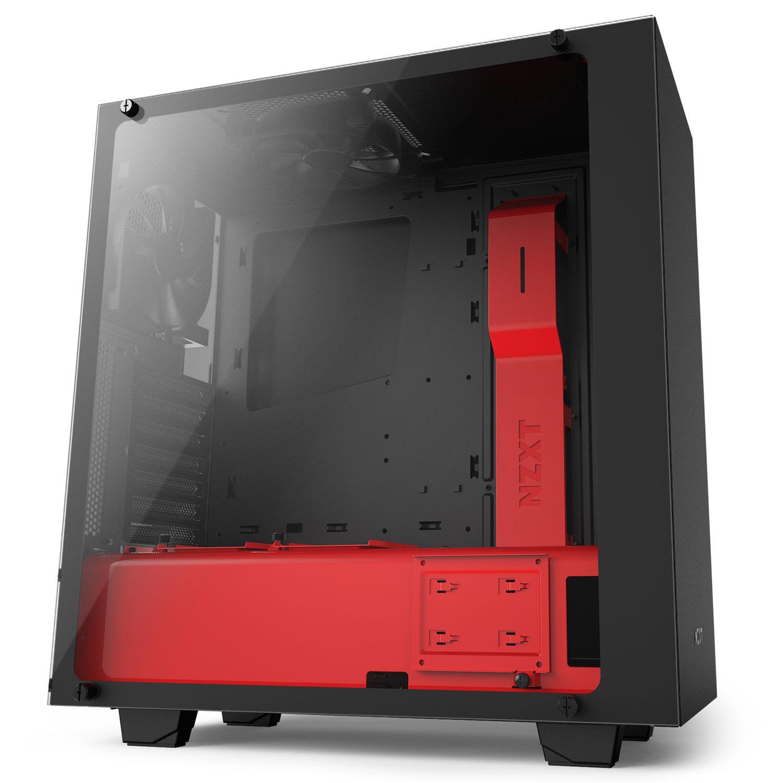 Boitier PC NZXT S340 Elite - Noir/Rouge