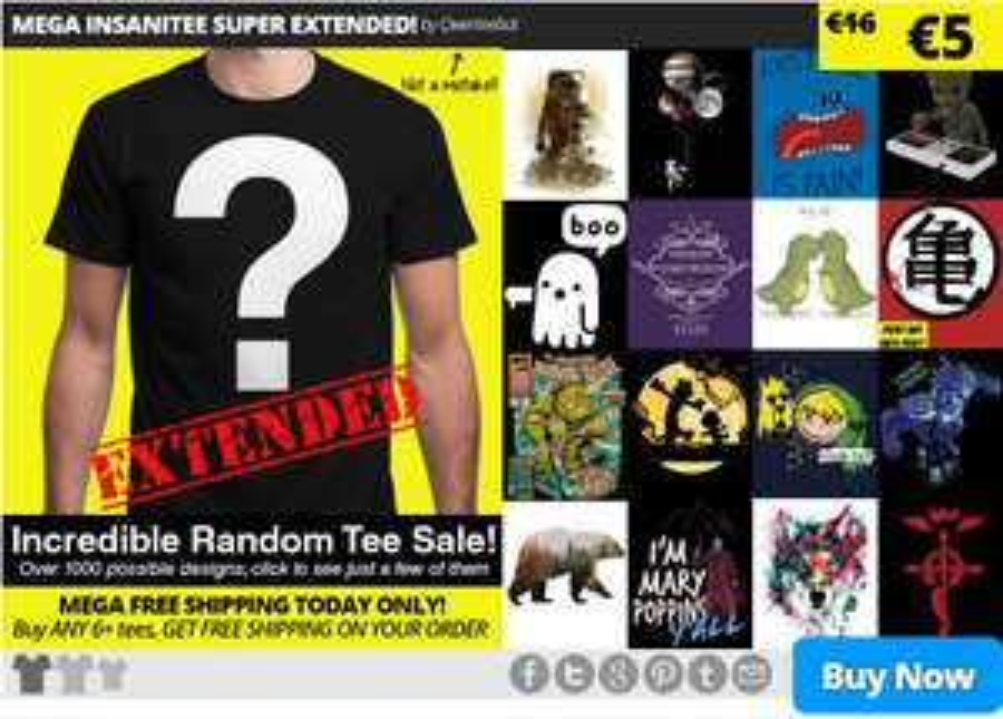 T-shirt avec design aléatoire