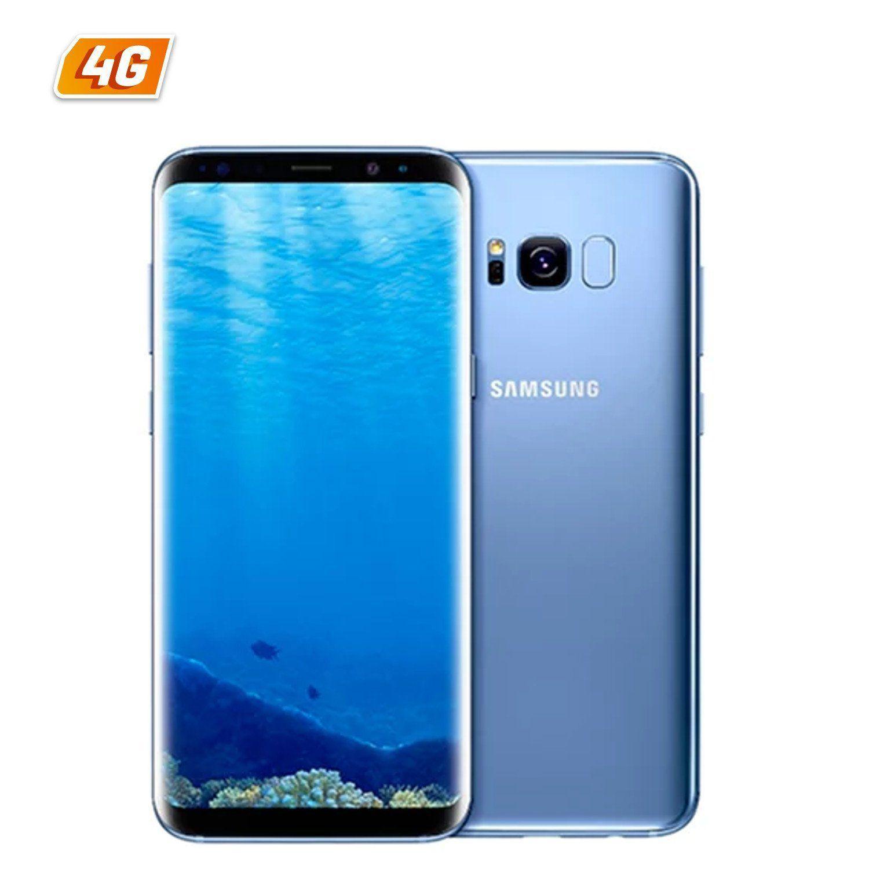 "Smartphone 5.8"" Samsung Galaxy S8 - 64Go, 4 Go de Ram, Bleu Corail"