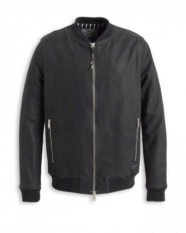 Blouson Chevignon  en cuir de vachette  (Tailles S,L,XL,XXL) Couleur Navy