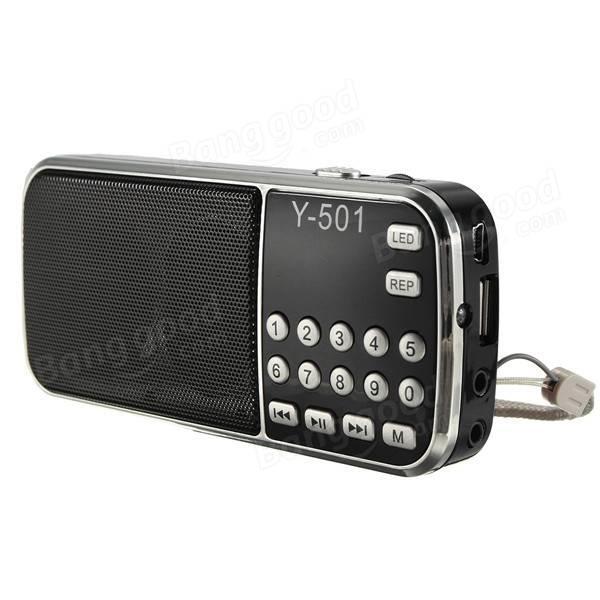 Radio USB Y501 avec batterie 800ma - 3W, Plusieurs coloris