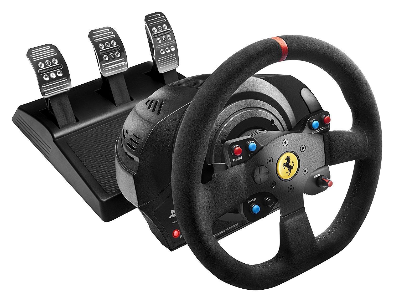 Volant ThrustMaster T300 Ferrari Alcántara Edition - PS3/ PS4/ PC