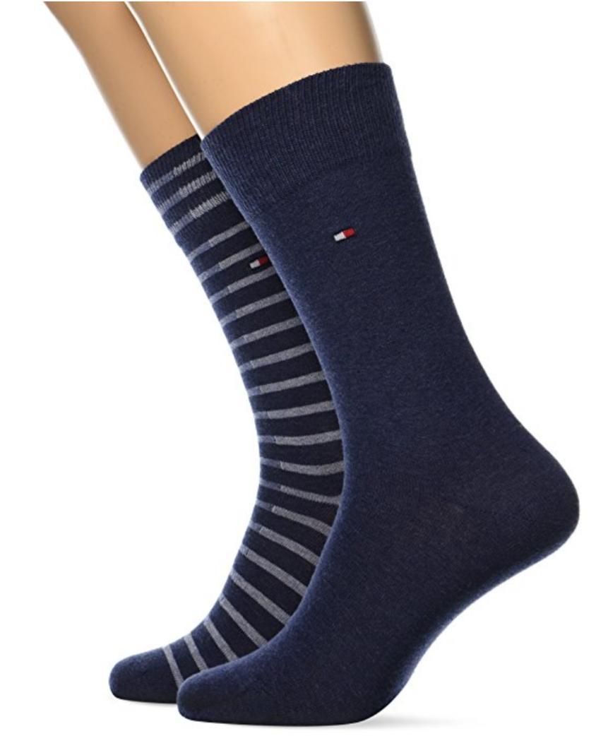 Lot de 2 paires de chaussettes Tommy Hilfiger homme divers modèles/tailles
