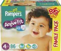 30% sur les couches Pampers Active Fit - Ex: taille 4
