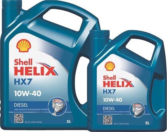 Sélection d'huile moteur en promotion - Ex : lot de 2 bidons Shell Helix HX7 10W40 - Diesel ou Essence, 5+2 L (via 5.97€ sur la carte de fidélité)