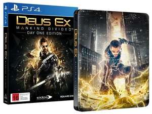 Deus Ex : Mankind Divided - Edition Steelbook sur PS4 ou Xbox One