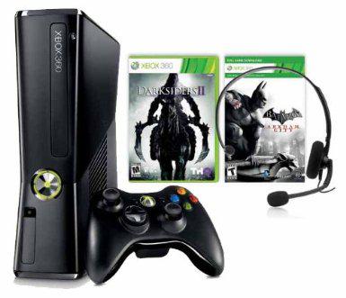 Xbox 360 slim 250Go + 2 Jeux : Batman Arkham City et Darksiders 2
