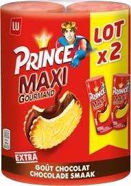 Lot 2 paquets de biscuits Lu Prince Maxi Chocolat - 250g (via BDR)