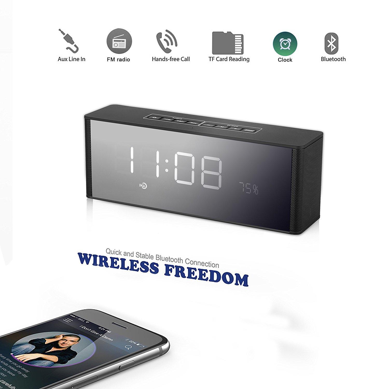 Réveil Enceinte Yokkao - Bluetooth, Ecran LED, Radio FM, Carte TF