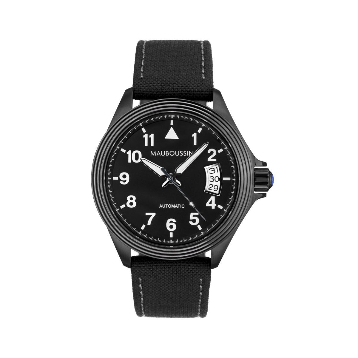 Sélection de montres Mauboussin en promotion - Ex : L'heure de paix - Grand modèle, Automatique, Bracelet tissu
