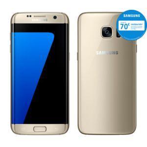 """Smartphone 5.5"""" Samsung Galaxy S7 Edge - 4 Go de RAM, 32 Go, Or (via ODR de 70€)"""