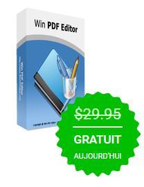 Logiciel Win PDF Editor 3.4.0 en Anglais gratuit sur PC (au lieu de $29.95)