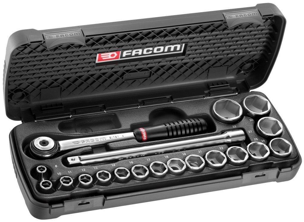 """Coffret de serrage Facom S.161.6PG 1/2"""" S.161 douilles + Embouts"""