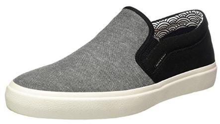 Chaussures Sneakers Basses Jack & Jones Jfwrush Textile Mix Anthracite pour Hommes - Tailles au choix