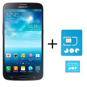 """Smartphone 6.3"""" Samsung Mega Noir avec Carte SIM Joe Mobile (Sans engagement)"""