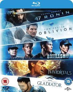 Pack de 5 Blu-ray : 47 Ronin + Battleship + Gladiator + Immortals + Oblivion (VO/VOSTFR)