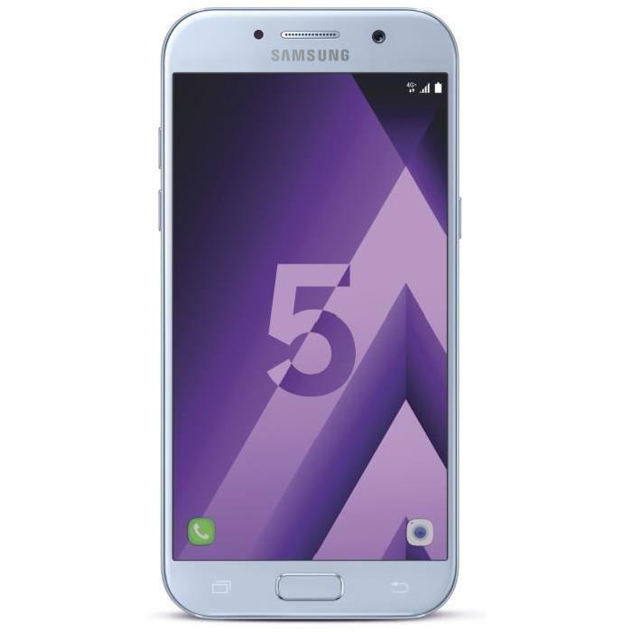 """Smartphone 5.2"""" Samsung Galaxy A5 2017 Bleu - RAM 3Go, 32Go (via ODR 50€ + code promo 25€)"""