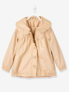 Trench fille forme boule - beige irisé