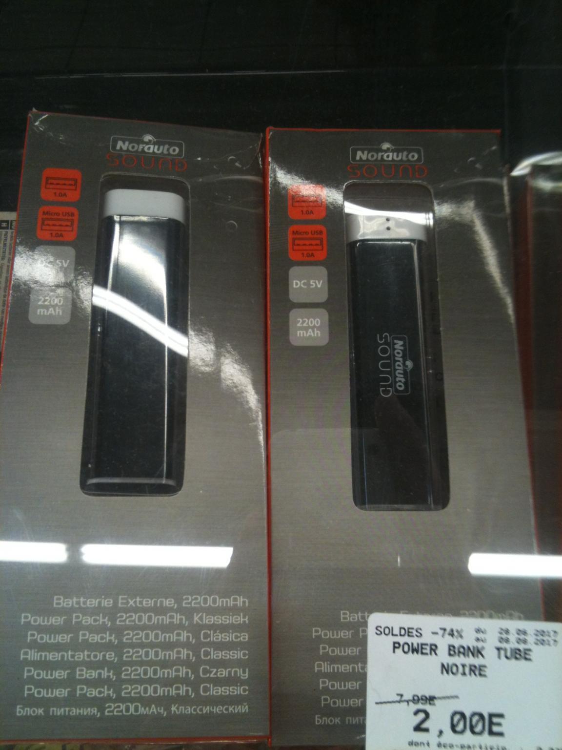Batterie externe Norauto Sound - 2200 mAh