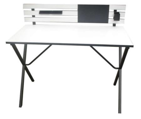 Sélection de bureaux  en promo - Ex : Bureau 110 cm Britanny coloris noir/blanc