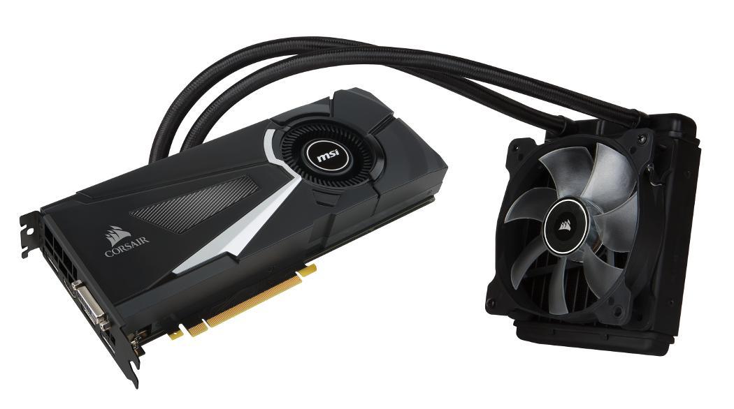 Carte graphique MSI GeForce GTX 1080 Sea Hawk X - 8 Go