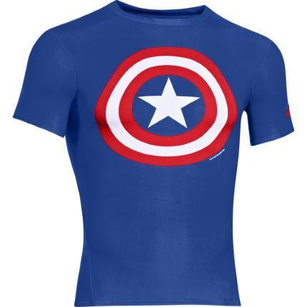 Sélection de maillots de compression Under Armour Alter Ego en promotion - Ex : Captain America
