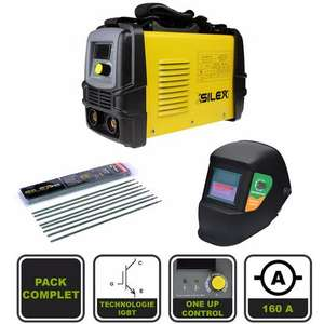Pack poste à souder Silex 160A + masque de soudure + lot de 50 électrodes Silex