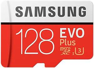 Carte microSDXC Samsung EVO Plus U3 - Version 2017, 100-90 Mo/s, 128 Go